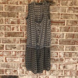 Zara Basic Sheer Button Up Sleeveless Romper XS